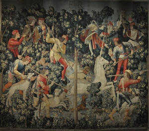 682px-Unicorn_Tapestry,_The_Unicorn_Leaps_the_Stream_3