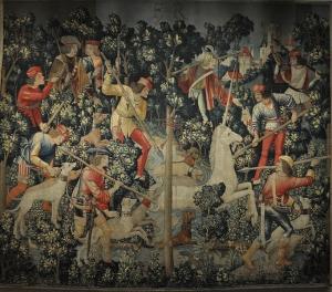682px-Unicorn_Tapestry,_The_Unicorn_Leaps_the_Stream_3